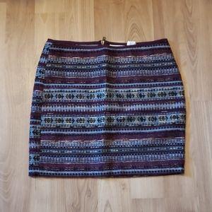 H&M Tribal Print Skirt